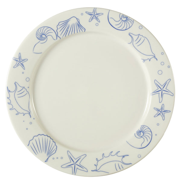 Atlantic Seashell American White Round Dinner Plate (ATC-21-AW) (12/pcs)