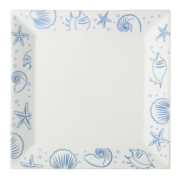 Atlantic Seashell Super White Square Plate (ATC-SQ21) (12/pcs)