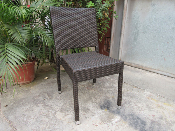 Chocolate, Weave Seat and Back, Armchair, Outdoor Use