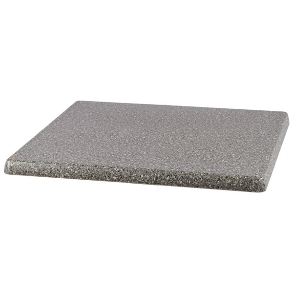 "Table Top, Square, 1-1/4"" Thick, Scratch, UV and Weather Resistant (JMC)- Black Granite2424-S"