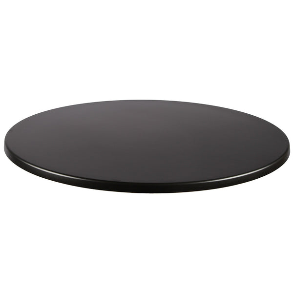 Black, Wood/Resin Round Table Top