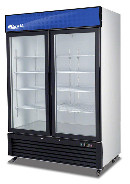 Migali Refrigeration, Two Glass Door Merchandiser Refrigerator- C-49RM-HC