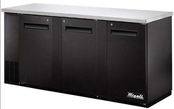 Migali Refrigeration, Solid Door Back Bar Refrigerator- C-BB72