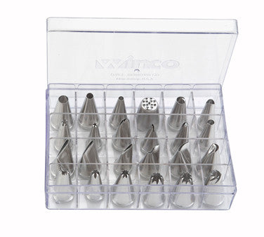 24 Piece Stainless Steel Cake Decorating Tip Set