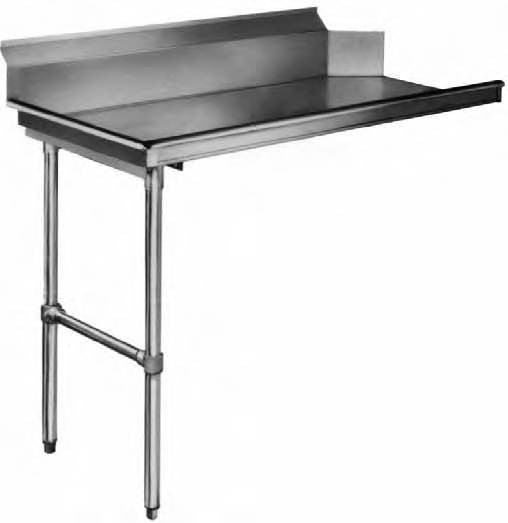KCS Metal CLEAN Dish Table Left Side, Straight- KCSCD-72L