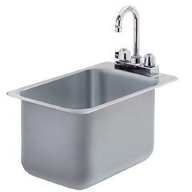KCS Metal (11x17x10) Commercial Drop-In Sink W/Goose Neck Faucet- KCS-DIS11x17-10