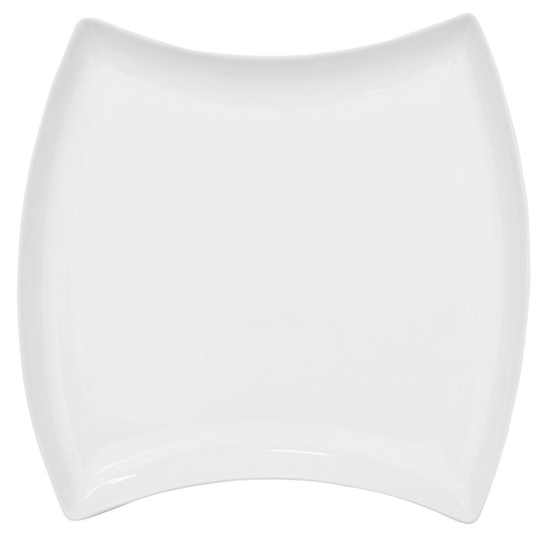 CAC Fashionware Bone White Square Dinner Plate(FTO-23) (12/pcs)