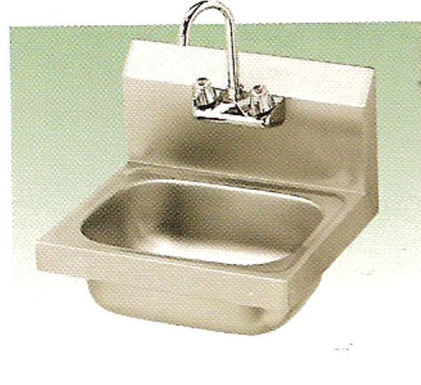 "KCS Hand Sink with Back Splash 12""X16"""