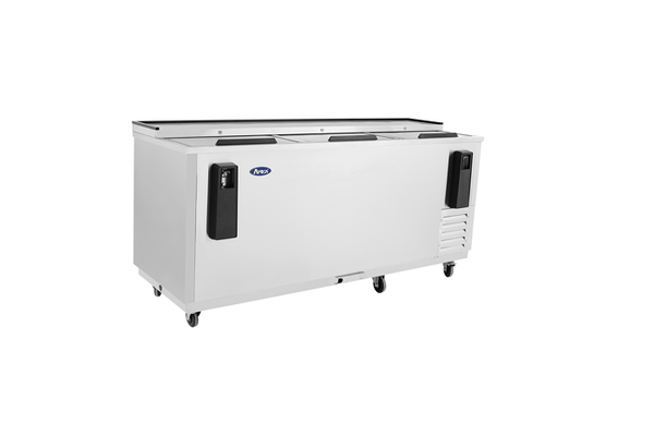 "80"" Solid S/S Slide Top Bottle Cooler"