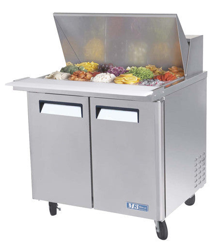 Turbo-Air 3' Refrigerated Counter Mega Top Sandwich Unit- MST-36-15