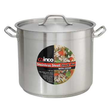 Winco 16 Quart Stainless Steel Stock Pot W/Cover- SST-16