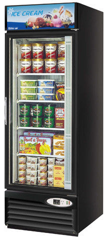 Turbo-Air Single Glass Door Merchandising Freezer- TGF-23FB