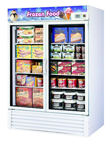 Turbo-Air Two Section, Glass Door Merchandising Freezer- TGF-49F