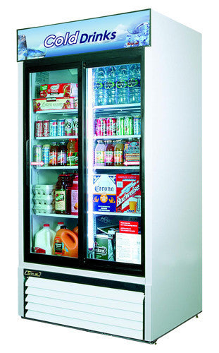 Turbo-Air Two Section Glass Slidding Door Merchandiser Refrigerator- TGM-35R