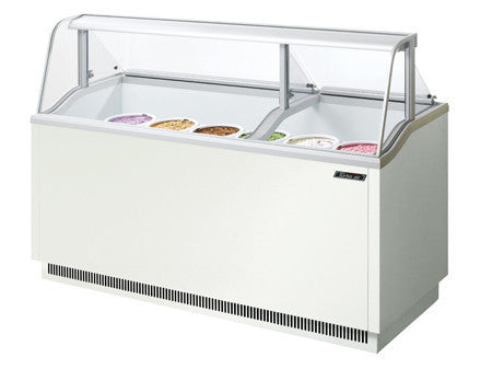 Turbo-Air Ice Cream Dipping Cabinet, 12 Display/ 8 Storage Capacity- TIDC-70W