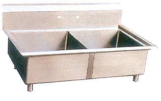 "KCS 2 Compartment Sink (24""X24"")"