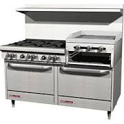 "6 Burner Range 24"" Raised Griddle 2 Range (Southbend)- S60DD-2RR"