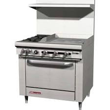 "4 Burner Range w/12"" Griddle and One Oven (Southbend) S-Series- S36D-1G"