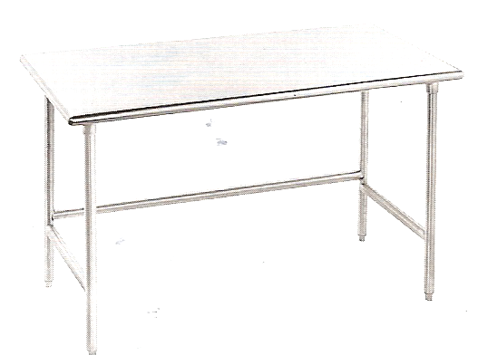 "KCS Stainless Steel Worktable W/ Crossbar (24""X24"")"
