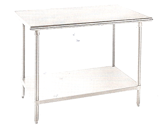 "KCS Stainless Steel Worktable W/ Stainless Steel Undershelf (18""X48"")"