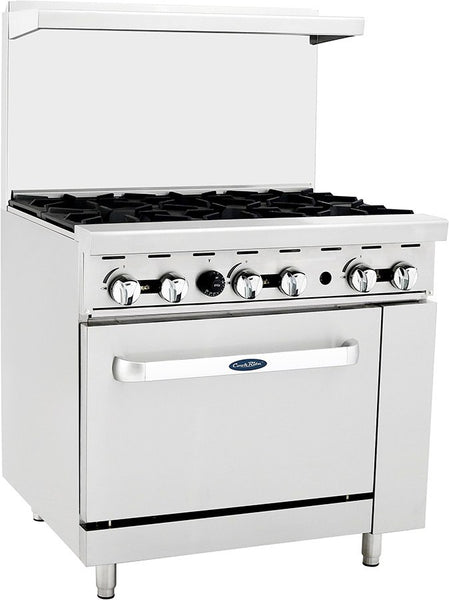 "36"" (6) Burner Range w/one oven and back riser"