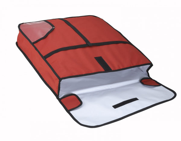 "Pizza Delivery Bag, 18""x18""x5"",Red/Black"