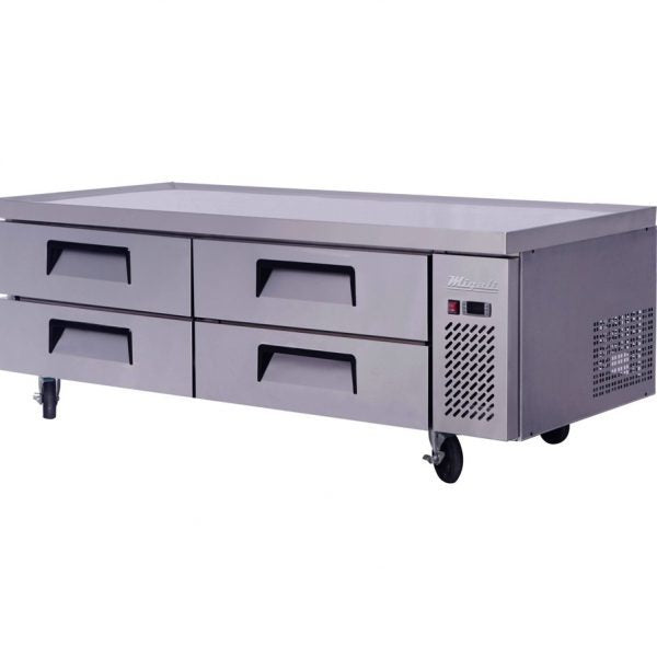 "76"" Wide Top Refrigerated Chef Base, 24 Pan Capacity"