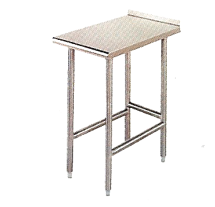 "KCS Stainless Steel Equipment Filler Table (15""X24"")"