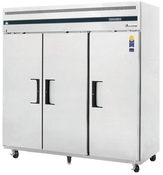 3 Section Solid Door Reach-in Freezer