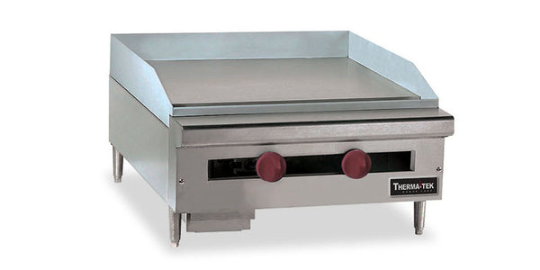 "Therma-Tek 24"" Manual Counter Top Griddle- TC24-24G"