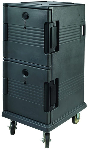 Gray, Double Stacked, Full Size, Insulated Food Carrier
