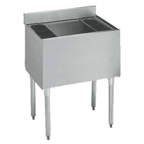 "18"" x 30"" Insulated Ice Bin, All Stainless Steel"