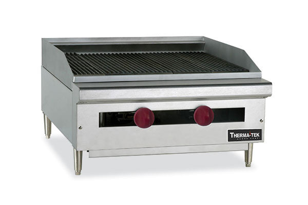 "Therma-Tek 24"" Radiant Heavy Duty Gas Char-Broiler- TC24-24RB"