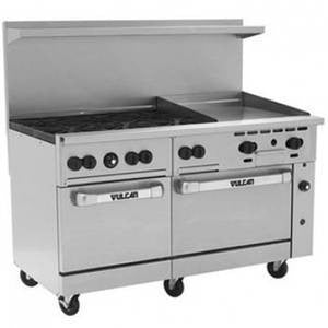 "6 Burner Range w/2 Ovens and a 24"" Griddle (Vulcan )- V60F"