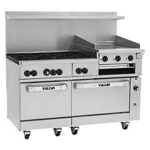"60"" Commercial Kitchen Range (Vulcan )- 60SS-6B24GB"