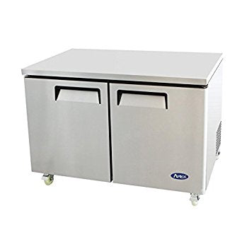 "60"" 2 door under counter refrigerator"