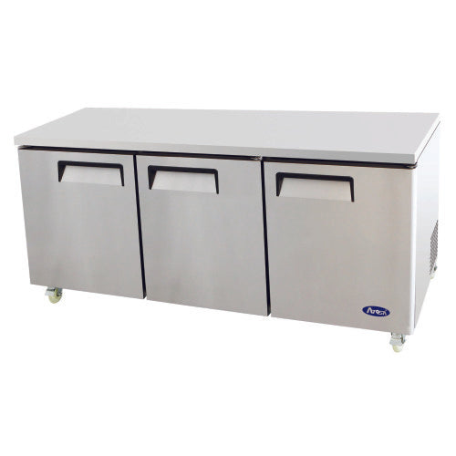 "3 door 72"" under counter refrigerator"