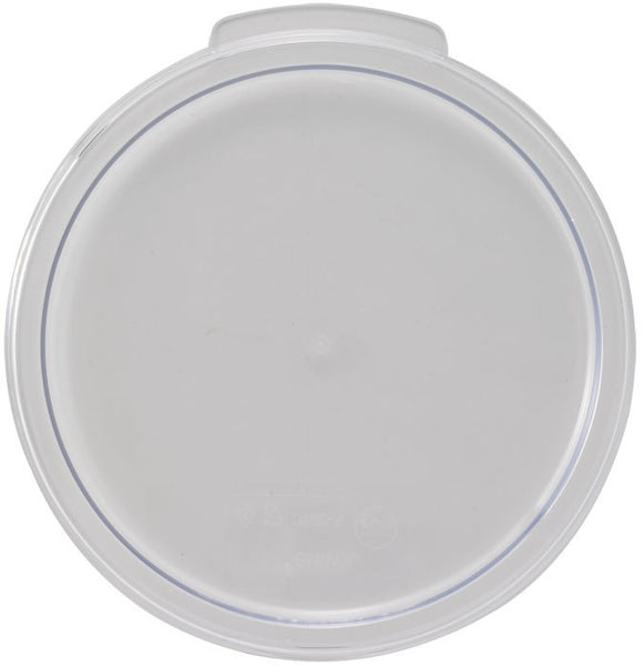 Cover, Round, Clear, Fit's 2&4 qt. storage container