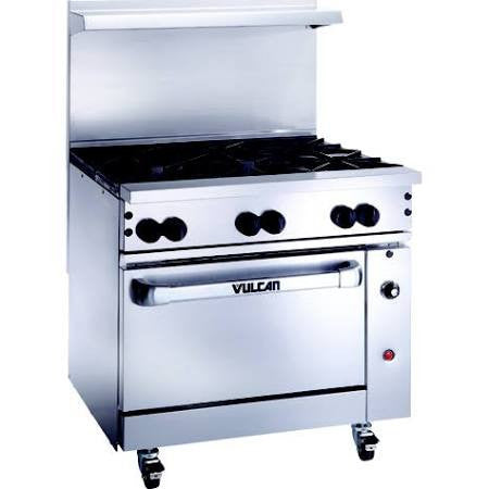 "36"" Range, Commercial Kitchen (Vulcan )- V36"