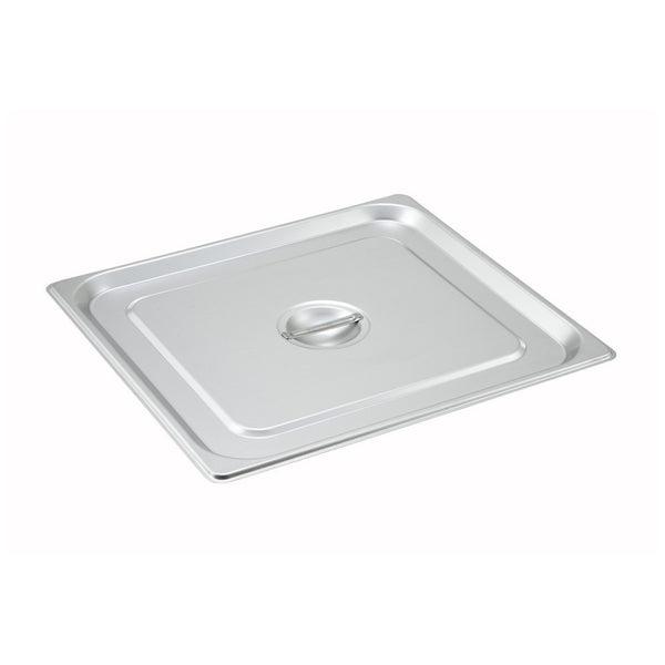 2/3 Size, Solid w/Handle S/S Steam Table Pan Cover