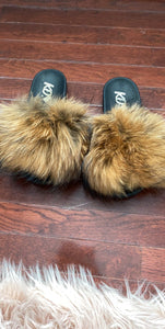 ADULT FAUX FUR SLIDES  (click for additional colors)