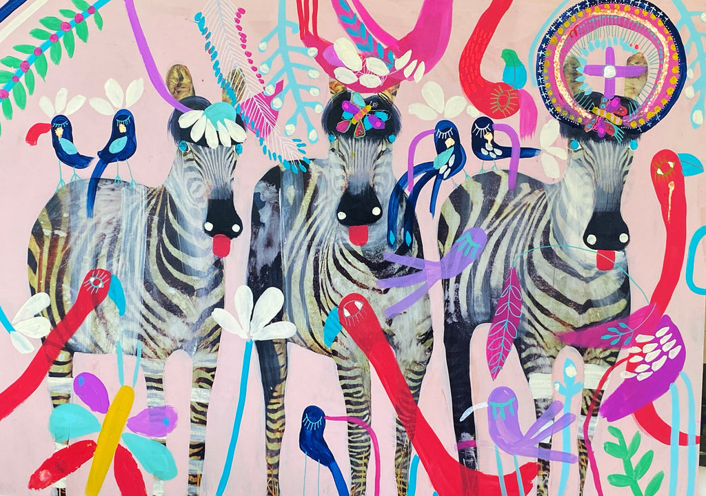 'Gala Girls' Limited Edition Print By Jessie Breakwell