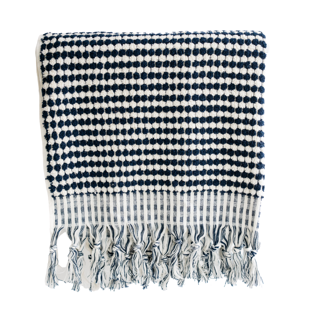 Love Moroccan Rugs - Bath Towel - Navy - Melbourne - Mount Martha
