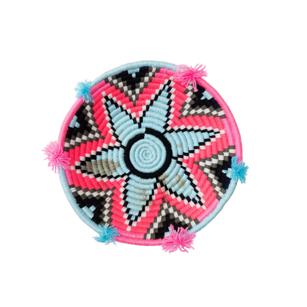Love Moroccan Rugs - Berber Plate - Pink Blue - Melbourne - Mount Martha