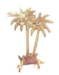 Large Brass Moroccan Palm Tree Hooks
