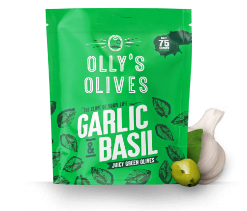 Olly's Olives Basil & Garlic 50g