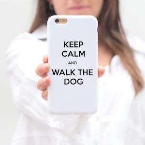 Keep Calm And Walk The Dog iPhone Case
