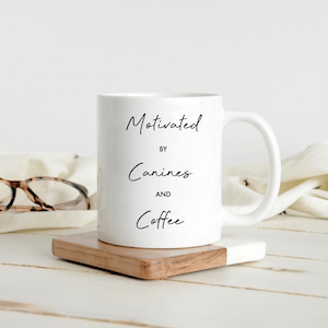 Motivated By Canines And Coffee Mug
