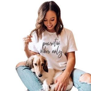 Pawsitive Vibes Only Womens Tee