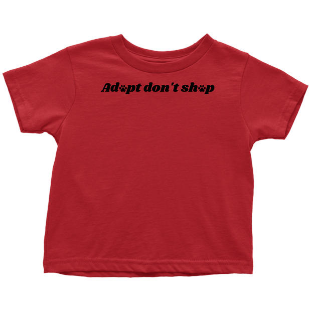 Adopt Don't Shop Toddler Tee Toddler T-Shirt Woofingtons